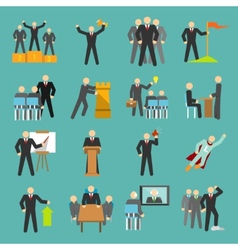 Leadership icons flat vector image