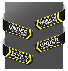 left and right side signs - under construction vector image