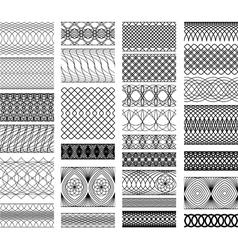 Set of Vintage backgrounds Guilloche ornamental vector image vector image