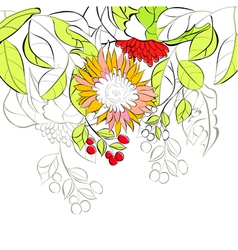 template for decorative card vector image vector image