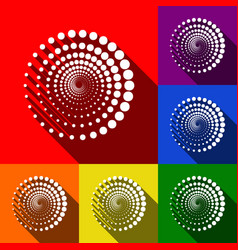 abstract technology circles sign set of vector image