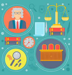 law and justice design concept with judge libra vector image