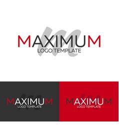 maximum logo letter m logo logo template vector image