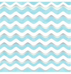 white wave seamless pattern vector image
