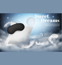 3d realistic mockup of comfortable sleep vector