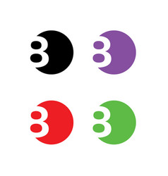 8-logo vector image