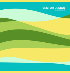 abstract colored background with waves pattern vector image