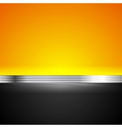 Abstract corporate bright background with metallic vector image
