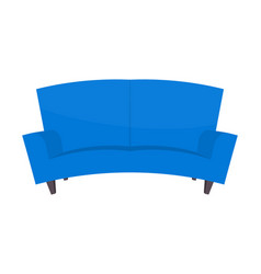 Abstract creative funny cartoon sofa set isolated vector