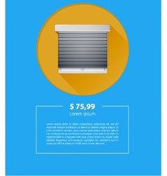 ad layout for sale of window with roller shutters vector image