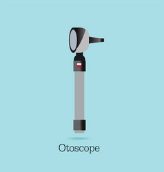 An otoscope being used to inspect ear isolated vector