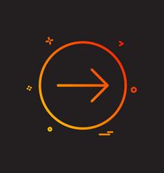 arrow right icon design vector image