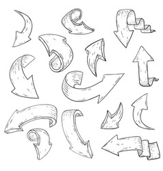 arrows hand drawn sketch vector image