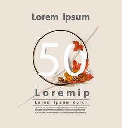 Autumn web banner sale layout decorate vector