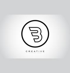 B letter monogram logo design modern b icon with vector