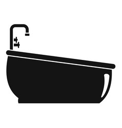 bathtube water tap icon simple style vector image