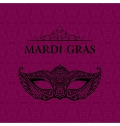 Beautiful mask of lace Mardi Gras vector image