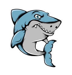 Big shark with sharp teeth posing vector