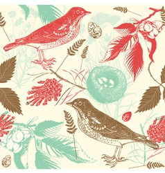 Birds and nature landscape vector