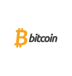 bitcoin icon graphic design template vector image