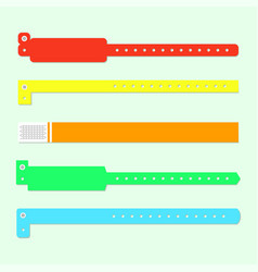 bracelet wristband set vector image