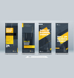 Business roll up banner abstract roll up vector