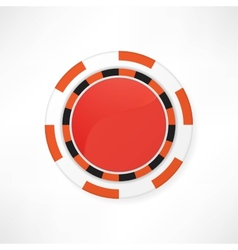 Casino red chips on white vector