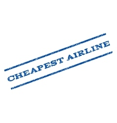 Cheapest airline watermark stamp vector