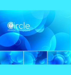 Circle abstract background - blue vector