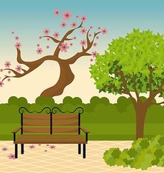 City park design vector image