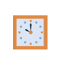 clock icon square wall clock showing time vector image