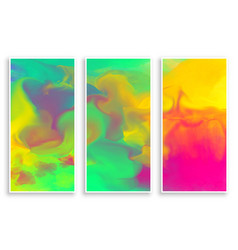 colorful abstract watercolor ink flow banner vector image