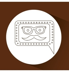 Concept hipster mustache and glasses graphic vector
