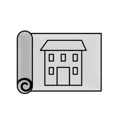 Construction architecture blueprint house paper vector image malvernweather Image collections