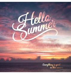 Creative graphic message for your summer design vector
