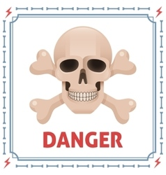Danger symbol with skull and crossbones vector image vector image