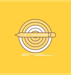 design goal pencil set target flat line filled vector image