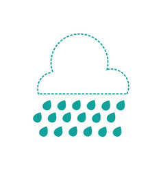 Dotted shape cloud raining and natural weather in vector