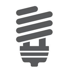 Energy saving glyph icon ecology lamp vector