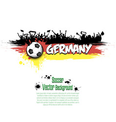 flag of germany and football fans vector image