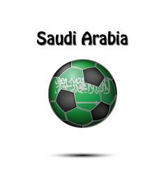 Flag of saudi arabia as an soccer ball vector