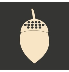 Flat in black and white mobile application acorn vector