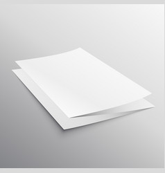 folded paper brochure template in perspective vector image
