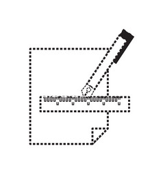 fountain pen and sheet icon vector image