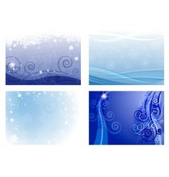 Frozen Christmas Background Set vector image vector image