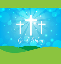 Good friday background with white cross vector