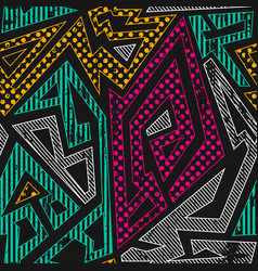 graffiti geometric seamless pattern vector image