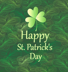 greeting card for Patricks Day vector image