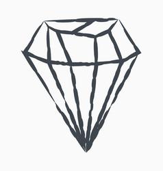Grunge diamond icon isolated on white background vector