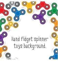 Hand fidget spinner toys pattern vector